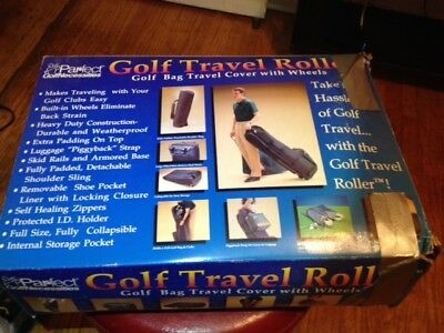 New Par-fect Necessites Golf Travel Roller Golf Bag Travel Cover with wheels ()