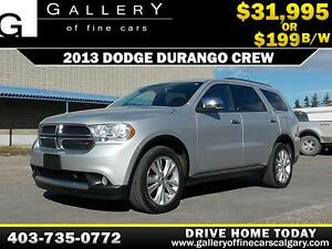 2013 Dodge Durango Crew $199 bi-weekly APPLY NOW DRIVE NOW