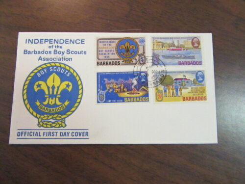 Independence of the Barbados Boy Scouts Association First Day Cover 1969   c65