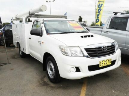 2013 Toyota Hilux KUN16R MY14 SR 4x2 White 5 Speed Manual Cab Chassis Minchinbury Blacktown Area Preview