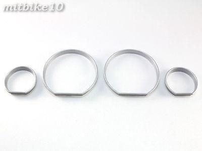 98-05 BMW E46 320i 325i 330i Silver INSTRUMENT CLUSTER DASH BOARD GAUGES RINGS
