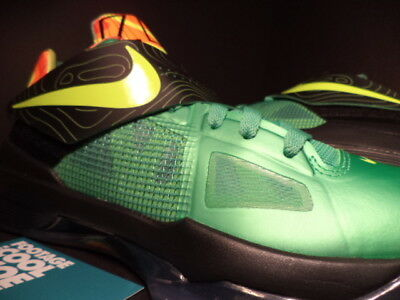 buy online 23188 01454 Nike Zoom KEVIN DURANT KD IV 4 WEATHERMAN SAMPLE GREEN BLACK ORANGE 473679-303  9