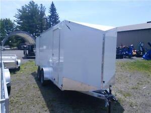 Aluminum Cargo Trailer 7 x 14 with Barn Doors