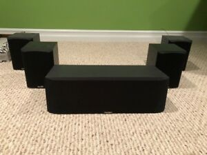 Paradigm Surround Speakers w/ Polk Audio Powered Subwoofer