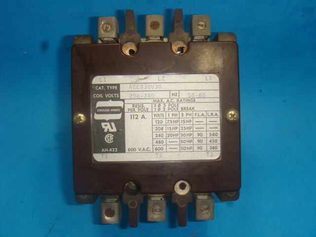 NEW, ARROW HART, INDUSTRIAL CONTROL, MAGNETIC CONTACTOR, ACC930U30, NEW IN BOX