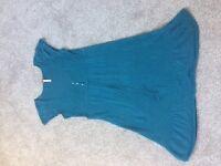 Ladies Dress/Tunic - blue/green Size 10 White Stuff
