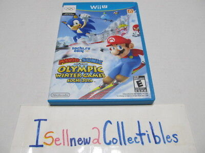 Mario & Sonic at the Sochi 2014 Olympic Games (Wii U, 2013) **** PLEASE READ.
