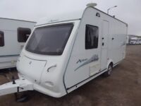 Elddis explore 474 compact 4 berth fixed bed, full new awning,all extras.