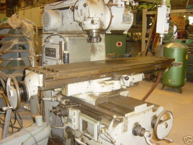 """VAN NORMAN UNIVERSAL MILL 50 TAPER SPINDLE 64"""" x 14"""" table"""