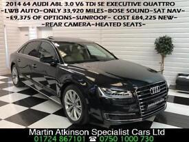 2014 64 Audi A8L 3.0 V6 TDi Quattro 4X4 SE Executive LWB 258BHP~LONG WHEEL BASE~