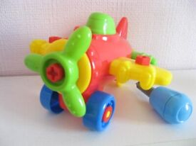 Childs Plastic small build plane screw together with nuts bolts screwdriver