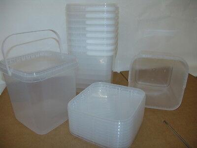 Kunststoffeimer transparent mit Deckel verschiedene Größen, lebensmittelecht ()