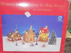 Christmas village houses with lights London Ontario image 1
