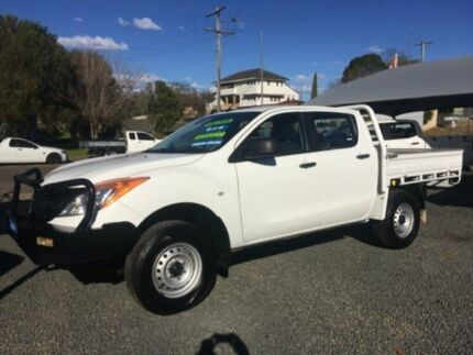 2013 Mazda BT-50 MY13 XT (4x4) White 6 Speed Manual Dual Cab Utility Gloucester Gloucester Area Preview