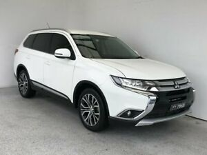 2015 Mitsubishi Outlander ZK MY16 XLS 4WD White 6 Speed Sports Automatic Wagon