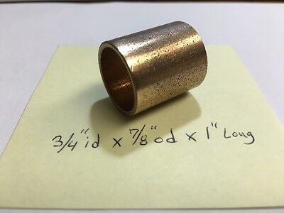 Oilite Bushing Bronze New 34 Id X 78 Od X 1 Brass Bearing Sleeve Bush B27
