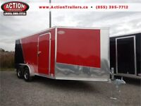 2019 7X19 DRIVE IN / OUT ALL ALUMINUM SNOWMOBILE TRAILER!! London Ontario Preview