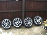 bmw alloy wheels 19 inch light gunmetal 5stud 120 centres