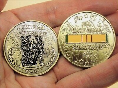 Vietnam Veteran Collectible Challenge Coin All Gave Some, Some Gave All.