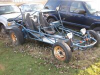 Volkswagen dune buggy sand rail with tow dolly package trades ?