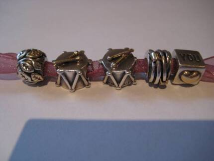 Genuine Pandora Silver and Gold Charms