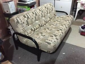 Almost New Futon with thick Mattress & another spare mattress