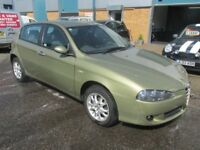 alfa romeo 2006 06,reg 1.9 diesel in metallic green with good history £1295 very good runner may px