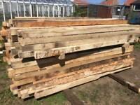 Hardwood Posts 7'