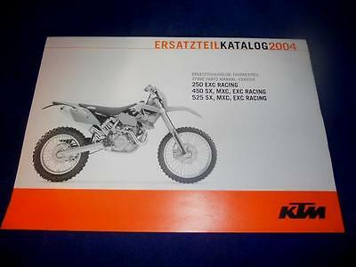 KTM Spare Parts Manual Chassis 2004 250 450 525