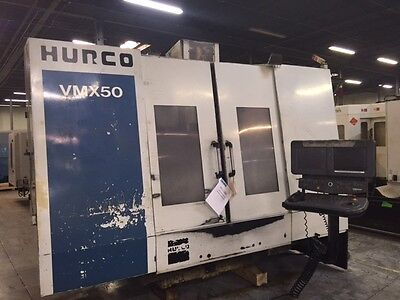 Used Hurco Vmx 50 Cnc Vertical Mill Machining Center Vmc 10000 Rpm Ct40 2000