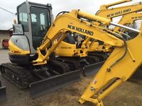 2014 New Holland E35B Mini Excavator