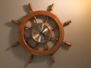 MOVING SALE SHIPS WHEEL CLOCK Kawartha Lakes Peterborough Area image 1