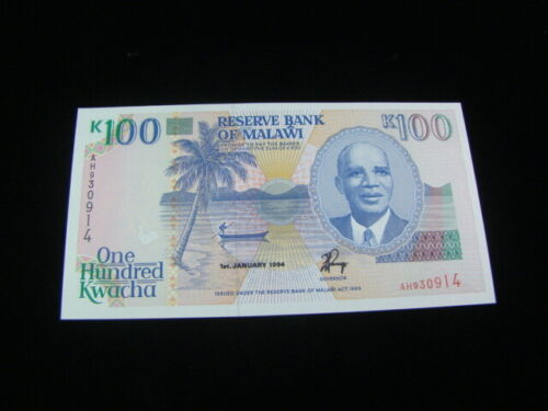 Malawi 1994 100 Kwacha Banknote Gem Uncirculated Pick #29b