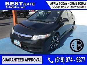 HONDA CIVIC SPORT - APPROVED IN 30 MINUTES! - ANY CREDIT LOANS