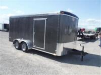 7K - 7 x 16 Enclosed Cargo Trailer - Radial Tires! TAX IN PRICE!