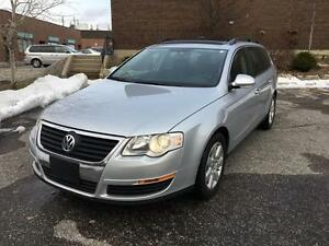 2007 VOLKSWAGEN PASSAT WAGON, LEATHER, ROOF, LOW KM