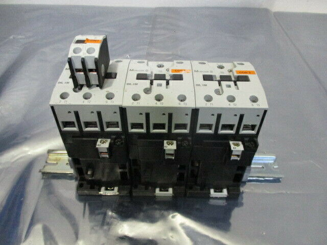 3 Moeller DIL1M-G Contactor Assy w/ 20 DIL Auxiliary Contactor, 452392
