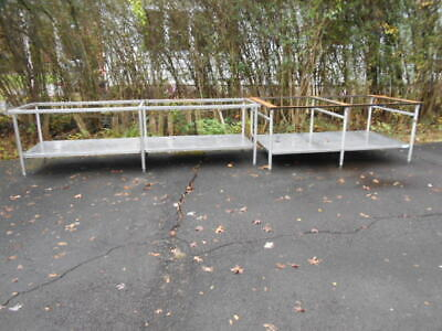 2large Used Heavy Duty Stainless Steel Prep Tables Without Tops
