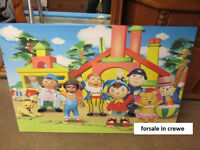 kids bedroom Noddy In Toy Land Bedroom Art Canvas Picture very large stunning