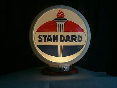 gas pump globe STANDARD reproduction 2 glass faces in a plastic body NEW