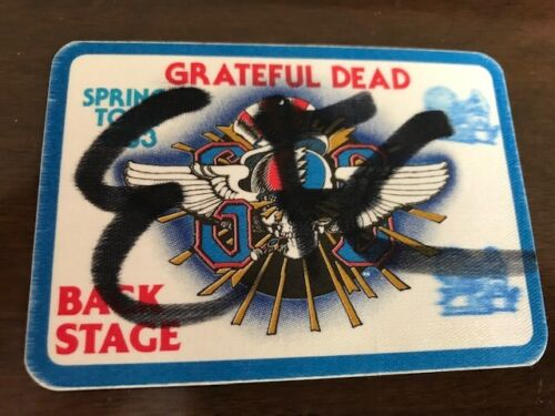 Grateful Dead - Spring Tour 1983 Backstage pass with BLUE Border made by Otto