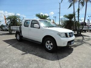 2011 Nissan Navara D40 MY11 RX White 6 Speed Manual Cab Chassis Caboolture South Caboolture Area Preview