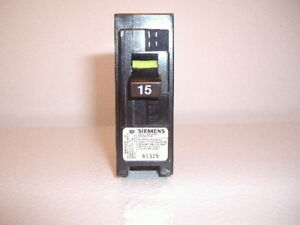 Disjoncteur simple 15 A Siemens