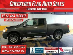 2012 Nissan Titan SL 4x4 V8-LEATHER-H/SEATS-LOCAL VEHICLE