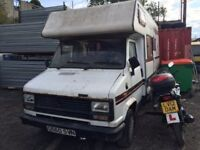 1985 Talbot Camper van, being sold as spares or repair, non runner, head gasket gone, located in Gra