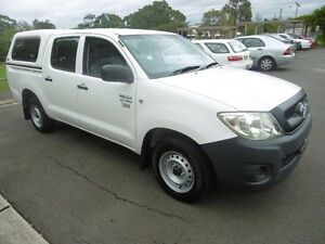 2009 Toyota Hilux TGN16R 09 UPGRA Workmate White 4 Speed Automatic Dual Cab Pick-up Yagoona Bankstown Area Preview