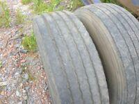265 x 70 x 19.5 Truck Tyres on 8 x Stud Road Wheels