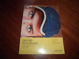 Oxford Psychology VCE Units 1&2  plus workbook Third edition Dandenong Greater Dandenong Preview