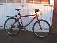"""Carrera Subway SB 20"""" Lightweight Alumminium Framed Hybrid Bike 21 quickshift gears, VGC"""