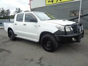 2012 Toyota Hilux KUN26R MY12 SR (4x4) White 5 Speed Manual Dual Cab Chassis Sandgate Newcastle Area Preview